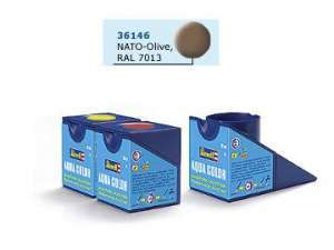 Revell 18ml No.46 - Aqua NATO Olive Matt Acrylic Paint